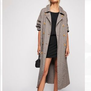 Melody Plaid Trench Coat from Free People